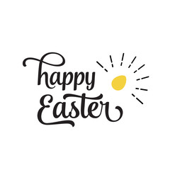 Happy Easter Lettering, Shining Egg