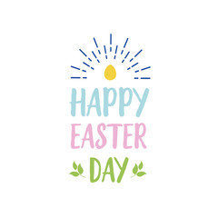 Pastel Happy Easter Day Lettering