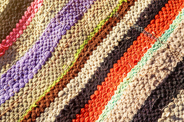Closeup on berber nomad carpet