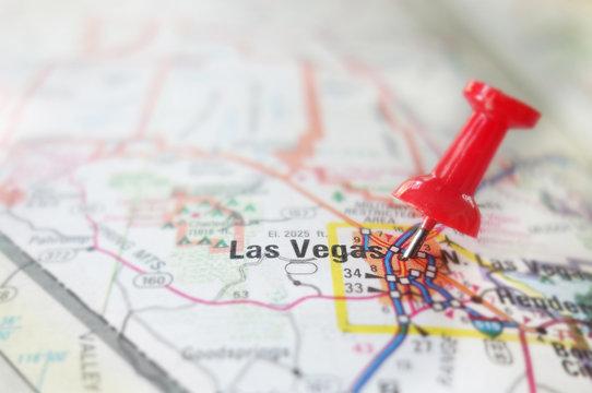 Las Vegas map pin