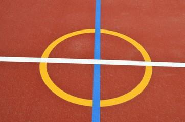 Netball Court Centre Circle