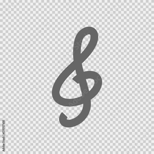 G Clef Vector Icon Eps 10 Music Key Symbol On Transparent