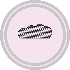 rain cloud vector icon