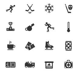 ice rink icon set