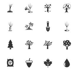 trees tools icon set