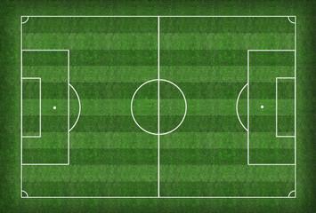 Soccer field and soccer ball - illustration
