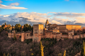 The Alhambra of Granada. Spain