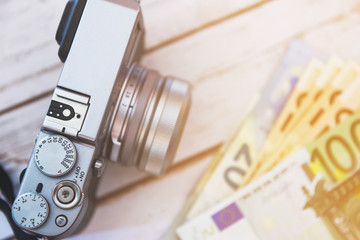 Earning money from photography - visual concept.