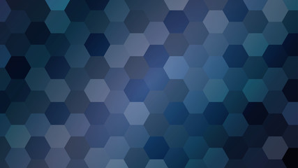 blue hexagons simple