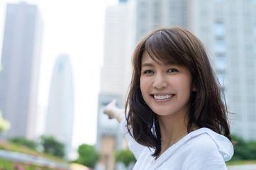 Asian girl relaxing outdoor in Tokyo