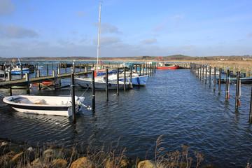 Idyllic marina on Funen Island, Denmark