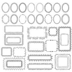 Set of hand drawn vector frames
