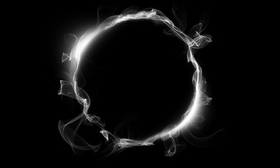 White ring consisting of a smoke. The magical thing. Fantasy