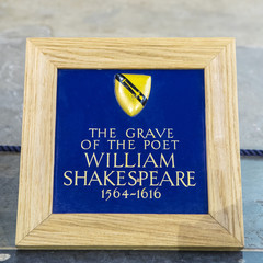 Grave of William Shakespeare in Stratford Upon Avon