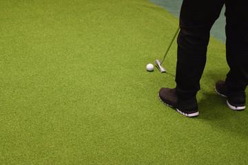 Golf sport club and green grass Outdoor Recreation
