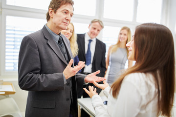 Businesswoman and consultant team in a consulting meeting
