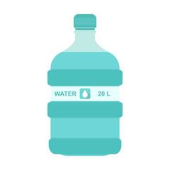 Vector illustration of 20 liter bottle of water