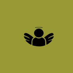 Angel icon. flat design