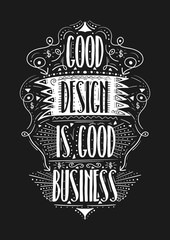 Good design is good business. Hand drawn label