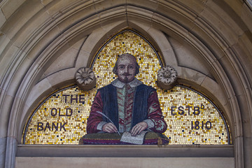 Shakespeare Mosaic in Stratford-Upon-Avon