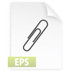 paper clip icon, vector illustration