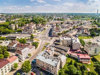 Lublin z lotu ptaka. Zabudowania Lublina przy ulicy Kunickiego