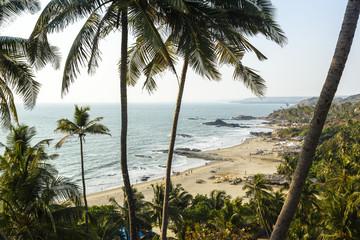 View over Vagator beach, Goa, India.