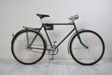 Old bike on white