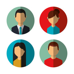group person avatars characters vector illustration design