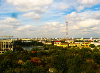 View of Minsk from the Ferris wheel in Gorky Park