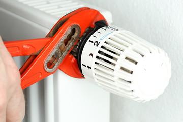 Thermostat anschrauben