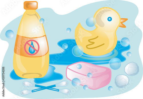 Baby bath supplies\