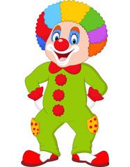 Cartoon funny clown