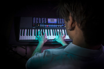 piano keys detail