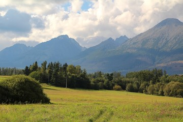View of the High Tatras Mountains, Slovakia