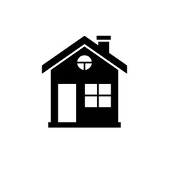House icon. Black, minimalist icon isolated on white background. House simple silhouette. Web site page and mobile app design vector element.
