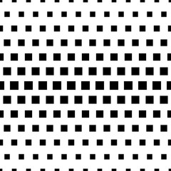 Abstract seamless pattern with square. Modern black and white texture. Geometric background