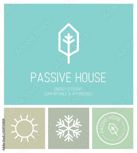 Logo picto identit marque ic ne cologie maison for Architecte nom