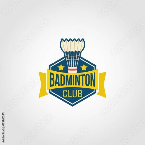 """Badminton Logo Design Vector"" Stock image and royalty"
