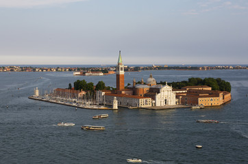 San Giorgio Maggiore view from Bell Tower, Venice, Italy
