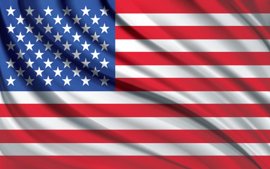 American flag real effect in vector format