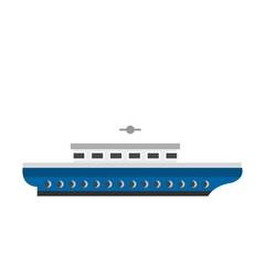 Passenger ship icon, flat style