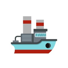 Small ship icon, flat style