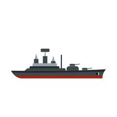 Warship icon, flat style