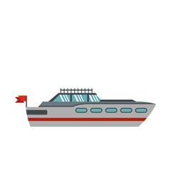 Big yacht icon, flat style