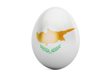 Easter egg with flag of Cyprus, 3D rendering