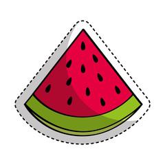 watermelon fresh fruit drawing icon vector illustration design