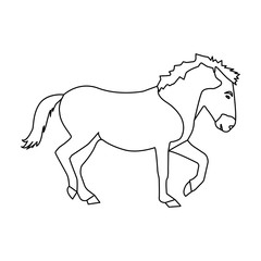 Mongolian horse. Vehicle ancient mongolov in the war.Mongolia single icon in outline style vector symbol stock illustration.