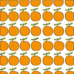 oranges pattern fresh fruit drawing icon vector illustration design