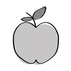 apple fresh fruit drawing icon vector illustration design